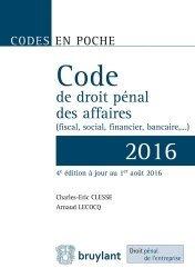 La couverture et les autres extraits de Droit pénal des affaires (fiscal, social, financier, bancaire). Edition 2018