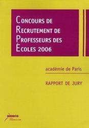 Concours de recrutement de professeurs des écoles 2006