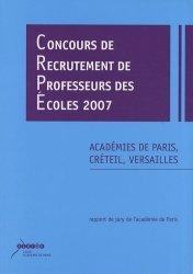 Concours de recrutement de professeurs des écoles 2007