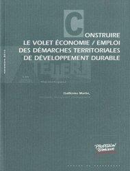 Construire le volet économie / emploi des démarches territoriales de développement durable