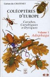 Coléoptères d'Europe Volume 1 Adephaga