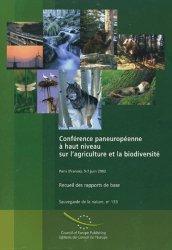 Conférence paneuropéenne à haut niveau sur l'agriculture et la biodiversité Recueil des rapports de base Paris 5-7 juin 2002