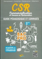 CSR Bac pro - Seconde professeur