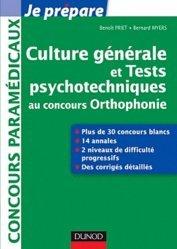 La couverture et les autres extraits de Culture générale et Tests psychotechniques au concours Orthophonie