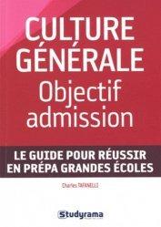 Culture générale : objectif admission