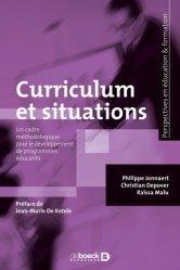 Curriculum et situations