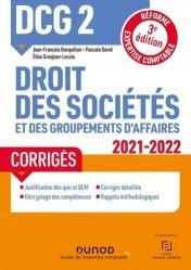 DCG 2 Droit des sociétés et des groupements d'affaires