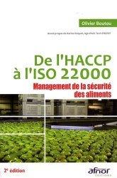 De l'HACCP à l'ISO 22000 Management de la sécurité des aliments