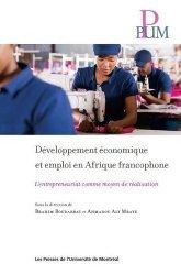 Developpement economique et emploi etn afrique francophone