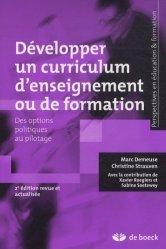 Développer un curriculum d'enseignement ou de formation
