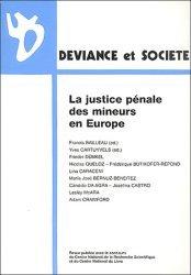 Déviance et Société Volume 26 N° 3, Septembre 2002 : La justice pénale des mineurs en Europe