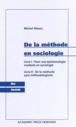 De la méthode en sociologie