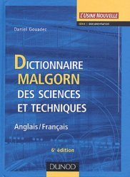 Dictionnaire Malgorn des sciences et techniques Anglais-Français