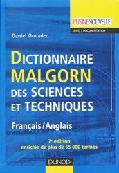La couverture et les autres extraits de Dictionnaire Malgorn des sciences et techniques Anglais-Français