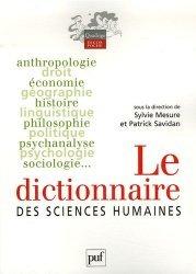 Dictionnaire des sciences humaines