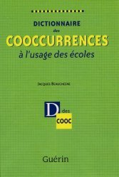 Dictionnaire des cooccurrences à l'usage des écoles