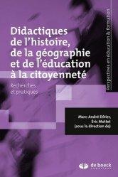 Didactiques de l'histoire, de la géographie et de l'éducation à la citoyenneté