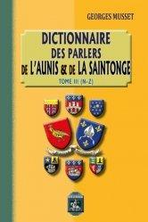 Dictionnaire des parlers de l'Aunis et de la Saintonge
