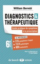 La couverture et les autres extraits de Diagnostics et thérapeutique
