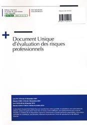 Document unique métier : Maison de retraite - Version 2016