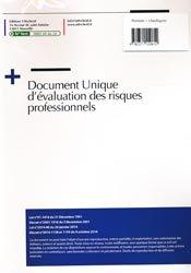 Document unique Métier : Plombier - Chauffagiste - Version 2016