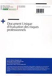 Document unique métier : Surveillance gardiennage sécurité - Version 2016