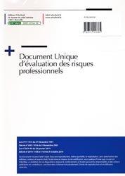 Document unique Métier : Ambulancier - Version 2016