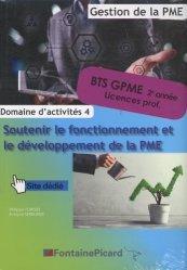 Domaine d'activités 4 Soutenir le fonctionnement et le développement de la PME BTS GPME 1re et 2e années/licences pro