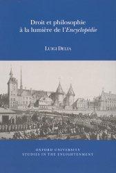 Droit et philosophie à la lumière de l'Encyclopédie