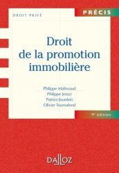 Droit de la promotion immobilière. 9e édition