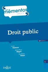 Droit public. 22e édition