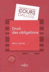 Droit des obligations. 13e édition