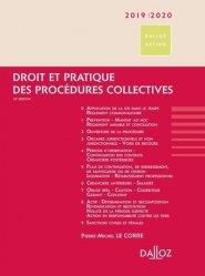 Droit et pratique des procédures collectives. Edition 2019-2020