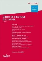 Droit et pratique de l'appel 2021/2022 - 4e ed.