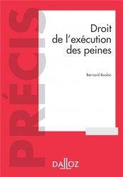 Droit de l'exécution des sanctions pénales - 6e ed.