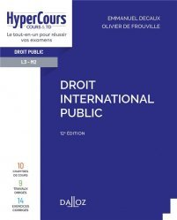 Droit international public - 12e ed.