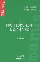 Droit européen des affaires. 2e édition