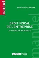 La couverture et les autres extraits de Droit fiscal de l'entreprise. Edition 2019-2020