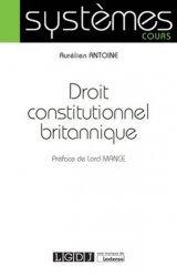 La couverture et les autres extraits de Droit constitutionnel britannique