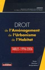 La couverture et les autres extraits de Droit de l'aménagement de l'urbanisme et de l'habitat 2014