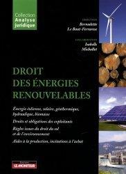 Droit des énergies renouvelables