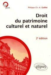 Droit du patrimoine culturel et naturel. 2e édition