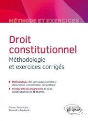 Droit constitutionnel. Méthodologie et exercices corrigés
