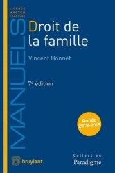 La couverture et les autres extraits de Droit des personnes et de la famille. Edition 2020