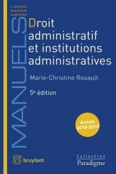 Droit administratif et institutions administratives. 5e édition