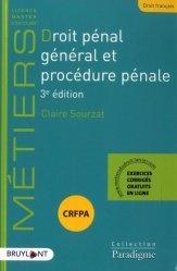Droit pénal général et procédure pénale. 3e édition