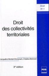 Droit des collectivités territoriales. 3e édition