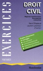 Droit civil. Régimes matrimoniaux, successions, libéralités, 2ème édition