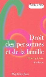Droit des personnes et de la famille. 3e édition