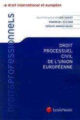 Droit processuel civil de l'Union Européenne